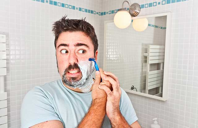 shaving razor disposable lather foam scared bathroon Zero Waste: shave with an electric razor or a real blade